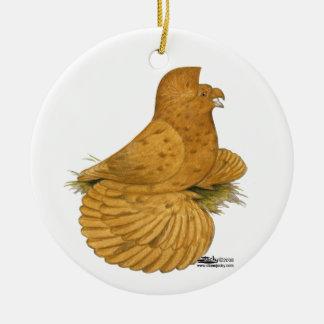 Trumpeter Pigeon Deroy Ceramic Ornament