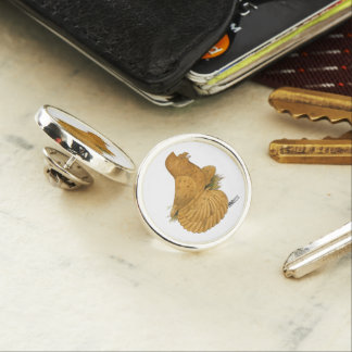 Trumpeter Pigeon Deroy Lapel Pin