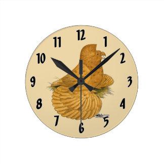 Trumpeter Pigeon Deroy Round Clock