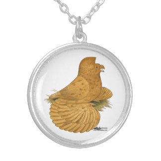 Trumpeter Pigeon Deroy Silver Plated Necklace