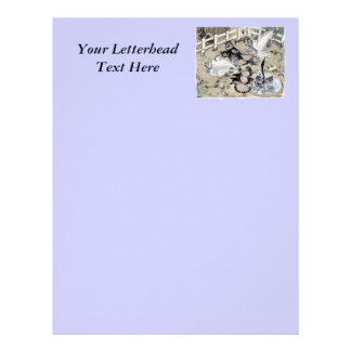 Trumpeter Pigeon Group Watercolor Personalized Letterhead