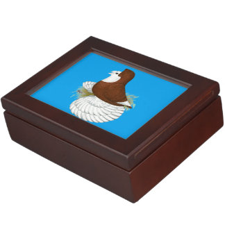 Trumpeter Pigeon Red Baldhead Keepsake Box