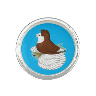 Trumpeter Pigeon Red Baldhead Ring