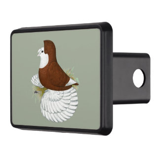 Trumpeter Pigeon Red Baldhead Trailer Hitch Cover