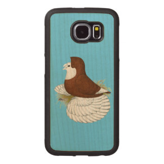 Trumpeter Pigeon Red Baldhead Wood Phone Case