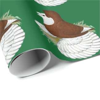 Trumpeter Pigeon Red Baldhead Wrapping Paper