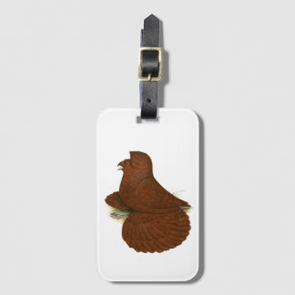 Trumpeter Pigeon Red Luggage Tag