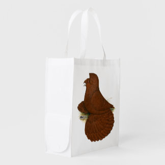 Trumpeter Pigeon Red Reusable Grocery Bag