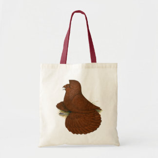 Trumpeter Pigeon Red Tote Bag