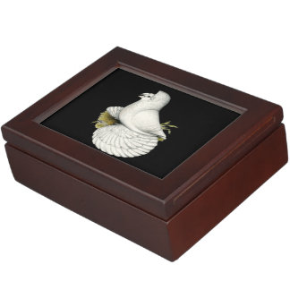 Trumpeter Pigeon White Keepsake Box