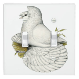 Trumpeter Pigeon White Light Switch Cover