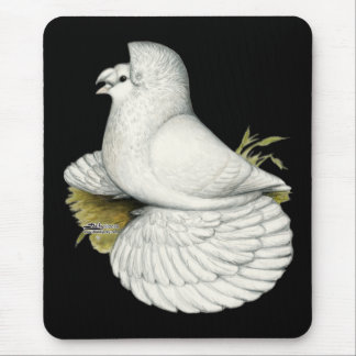 Trumpeter Pigeon White Mouse Pad