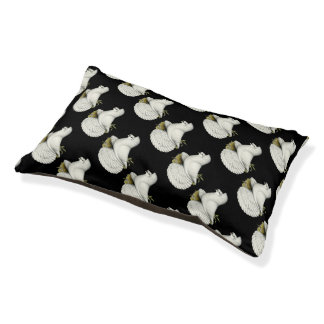 Trumpeter Pigeon White Pet Bed