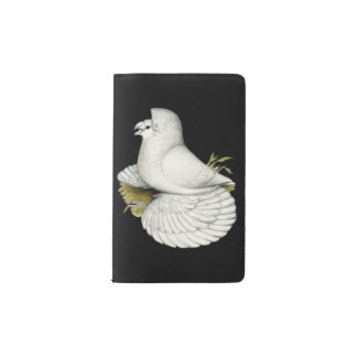Trumpeter Pigeon White Pocket Moleskine Notebook