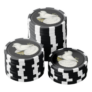 Trumpeter Pigeon White Poker Chips