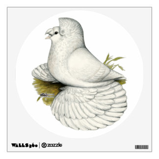 Trumpeter Pigeon White Wall Decal
