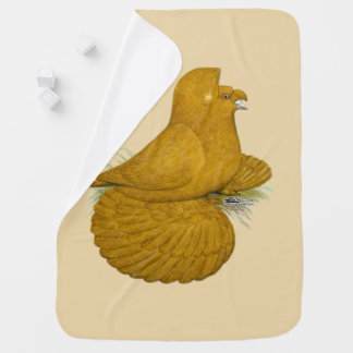 Trumpeter Pigeon Yellow Self Baby Blanket