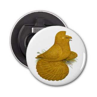 Trumpeter Pigeon Yellow Self Bottle Opener