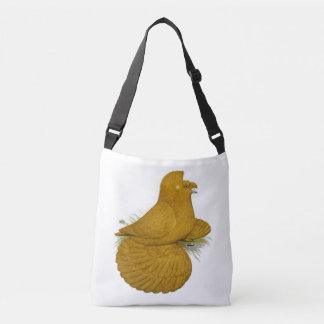 Trumpeter Pigeon Yellow Self Crossbody Bag