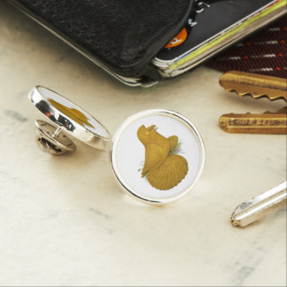 Trumpeter Pigeon Yellow Self Lapel Pin