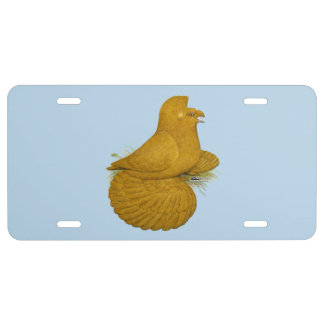 Trumpeter Pigeon Yellow Self License Plate