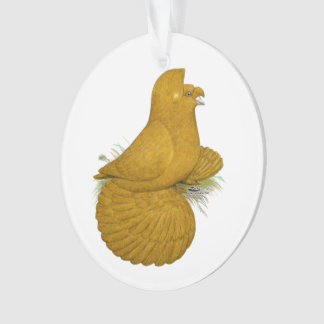 Trumpeter Pigeon Yellow Self Ornament