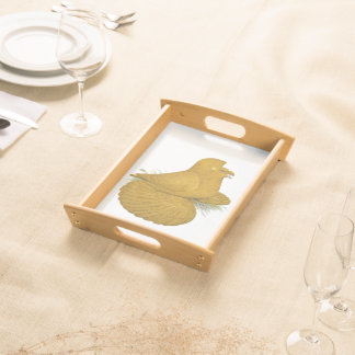 Trumpeter Pigeon Yellow Self Serving Tray