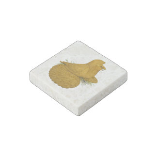 Trumpeter Pigeon Yellow Self Stone Magnets