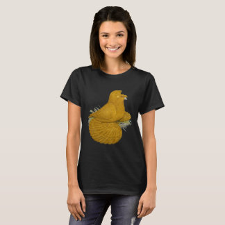 Trumpeter Pigeon Yellow Self T-Shirt