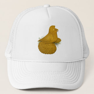 Trumpeter Pigeon Yellow Self Trucker Hat