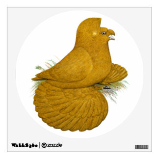 Trumpeter Pigeon Yellow Self Wall Decal