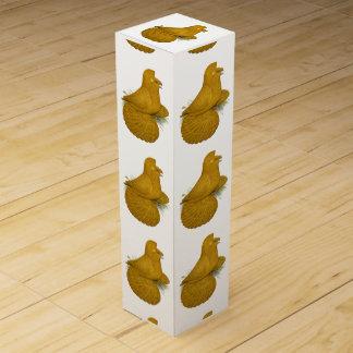 Trumpeter Pigeon Yellow Self Wine Gift Box