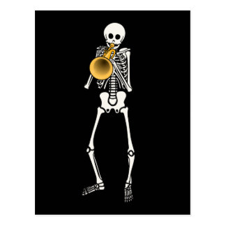 Trumpeter Skeleton Postcard