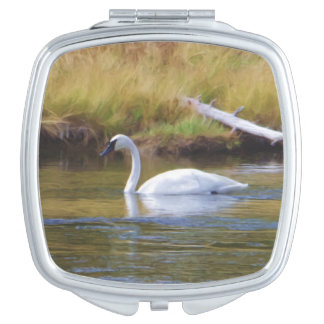 Trumpeter Swan Mirror For Makeup