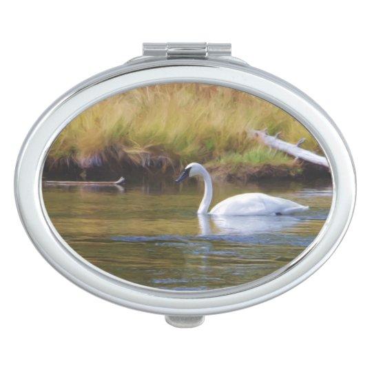 Trumpeter Swan Vanity Mirror