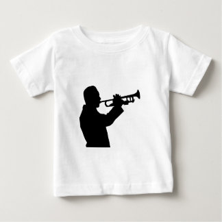 Trumpeter, trumpet player silhouette baby T-Shirt