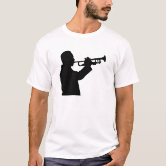 Trumpeter, trumpet player silhouette T-Shirt