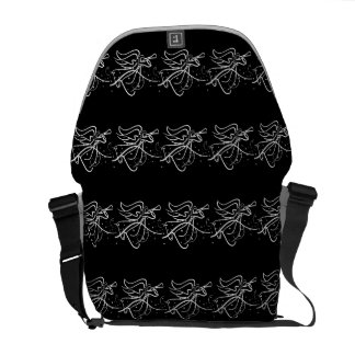 Trumpeting Angel black and white Commuter Bags