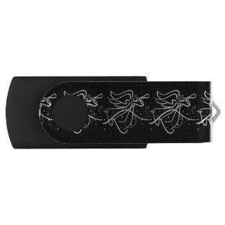 Trumpeting Angel black and white_edited-1 USB Flash Drive