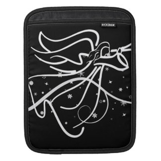 Trumpeting Angel black and white Sleeve For iPads
