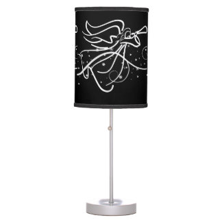 Trumpeting Angel in black and white Table Lamp