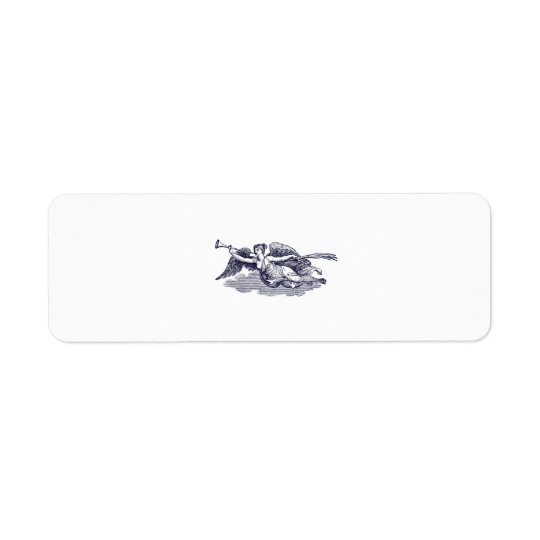 Trumpeting Angel Return Address Label