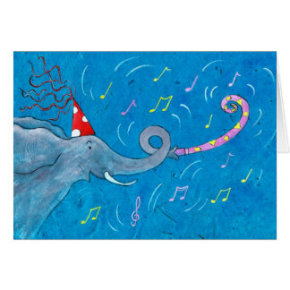 Trumpeting Elephant Card