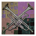 Trumpets Abstract Posters