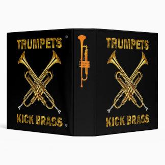 Trumpets Kick Brass Vinyl Binders