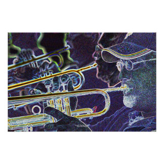 Trumpets, Mile High Jazz Band Poster