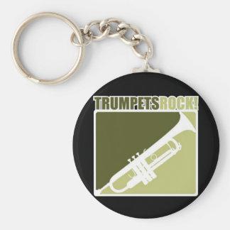 Trumpets Rock Keychain