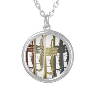 TRUMPETS SILVER PLATED NECKLACE