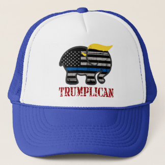 Trumplican Thin Blue Line Trucker Hat