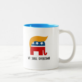 Trumplican - We Shall Overcomb Two-Tone Coffee Mug